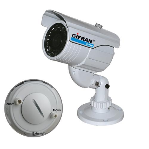 Telecamera Videosorveglianza 420 TVL CCD Sharp, Focale variabile da 4-9 mm