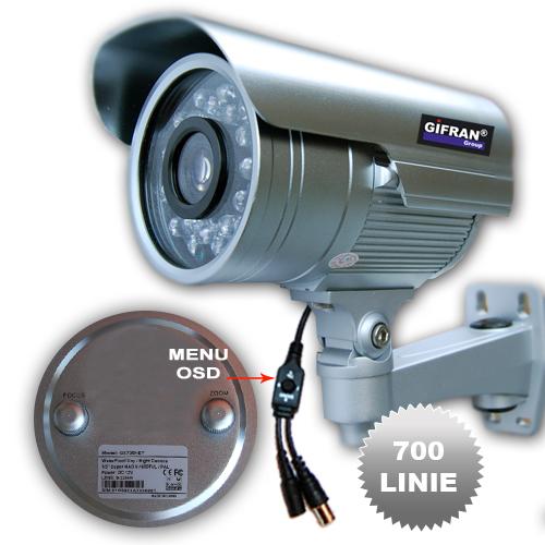 "Telecamera Videosorveglianza, II Sony Effio 1/3"" CCD varifocale 9-22mm"