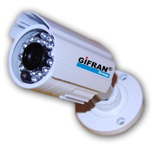 Telecamera videosorveglianza professionale CCD Sharp 3,6 mm 24 Led infrarossi